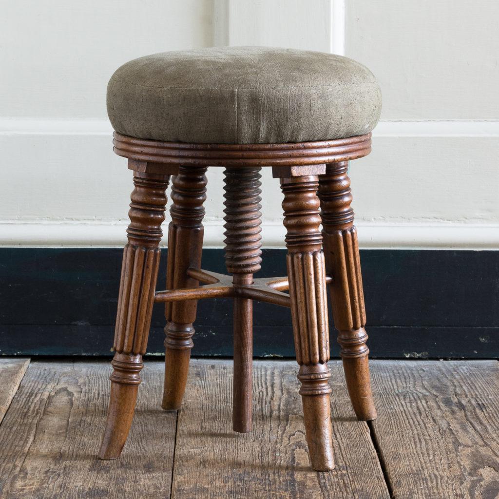 Early nineteenth century mahogany piano stool,-120378