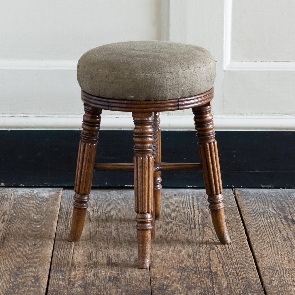 Early nineteenth century mahogany piano stool,-0