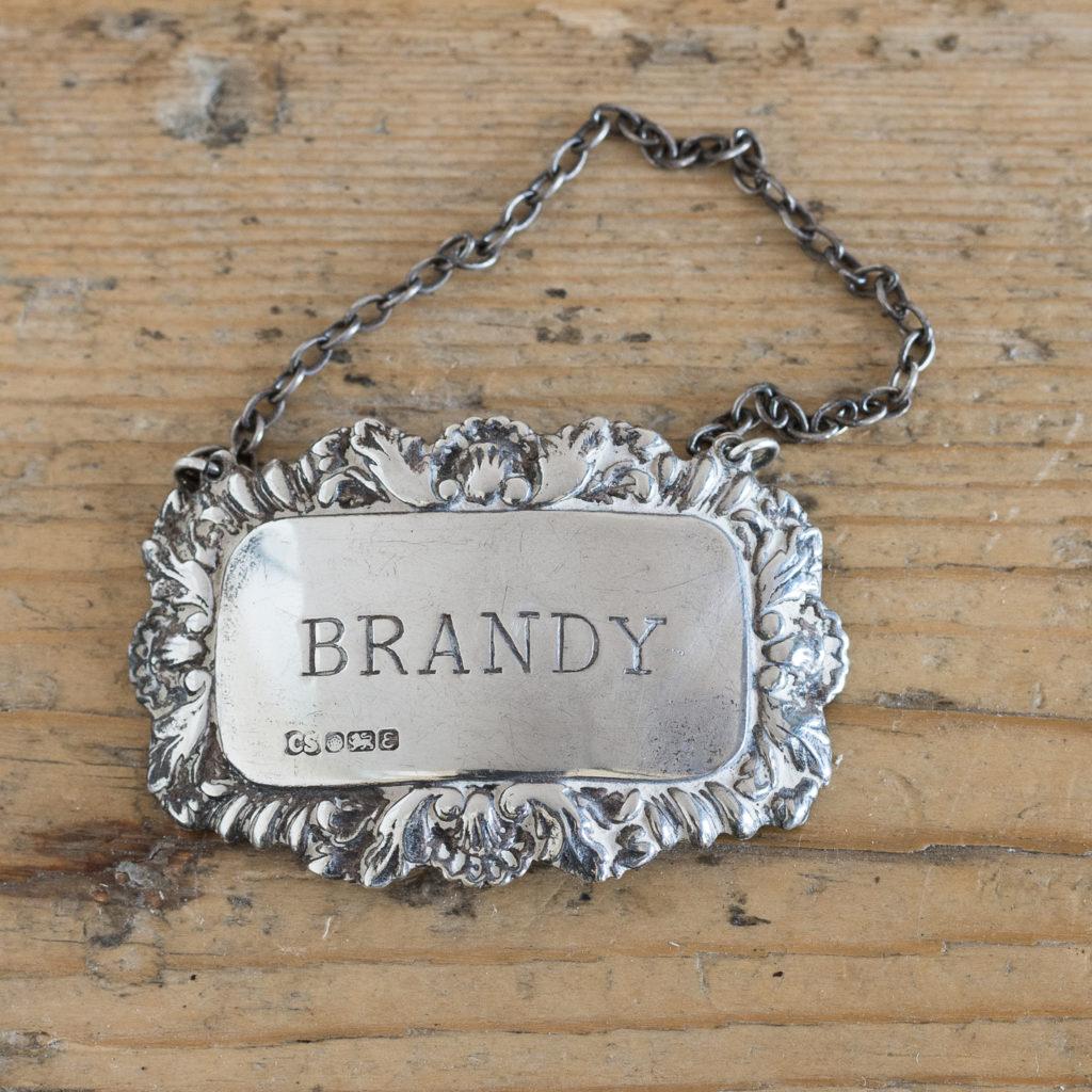 Silver decanter label,-0