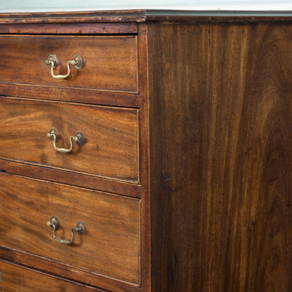 George III diminutive mahogany chest of drawers,-120335