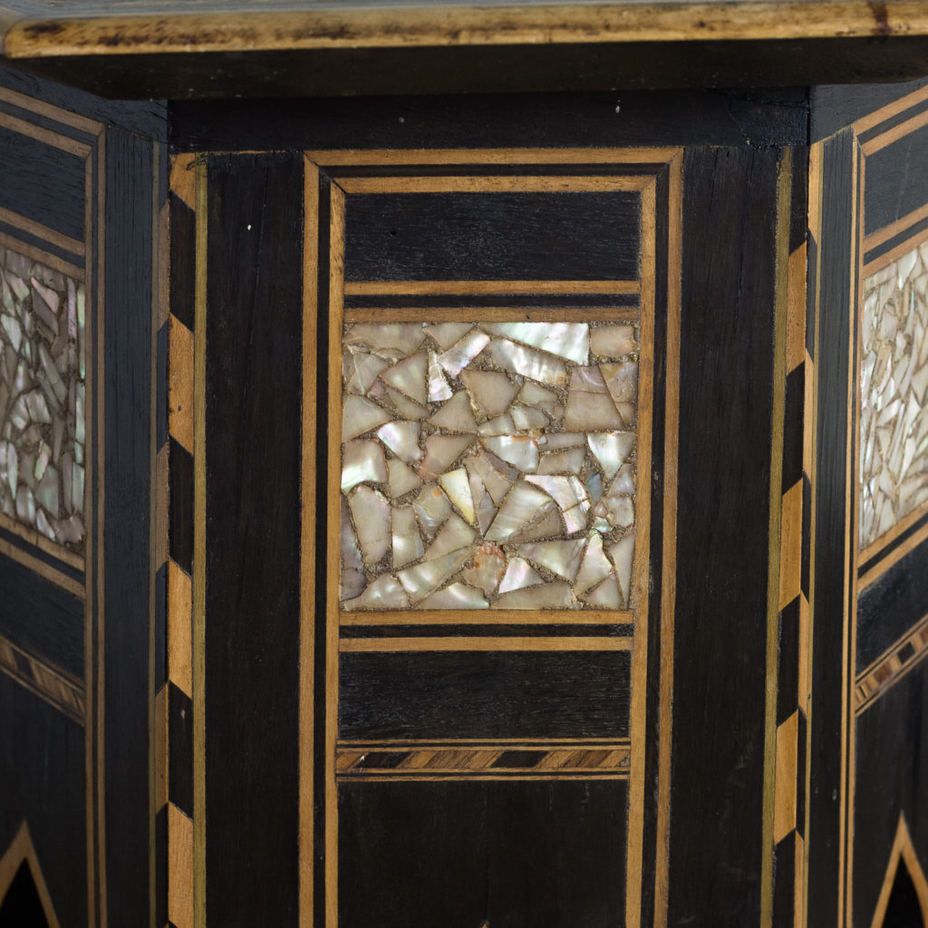 Mother of pearl and hardwood side table,-120147