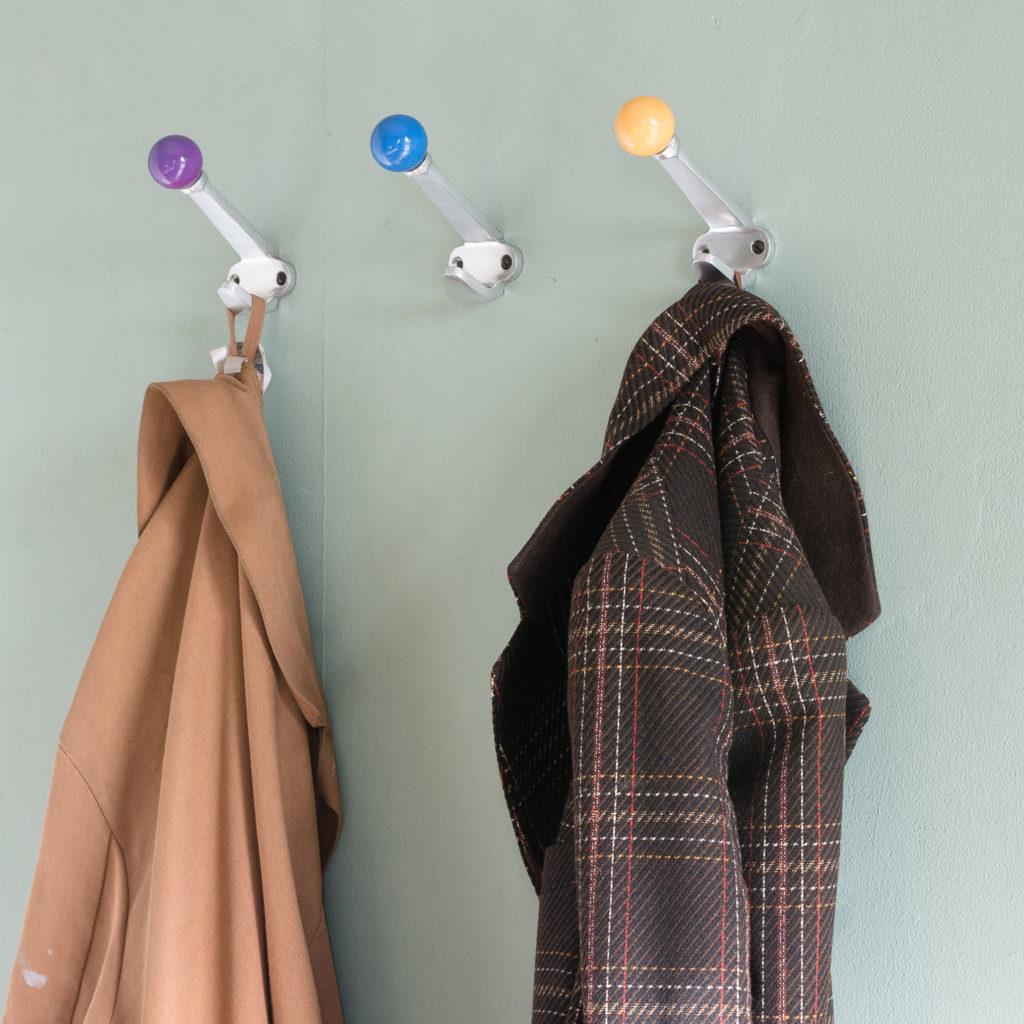 French 1960s aluminium coat hooks,-120883