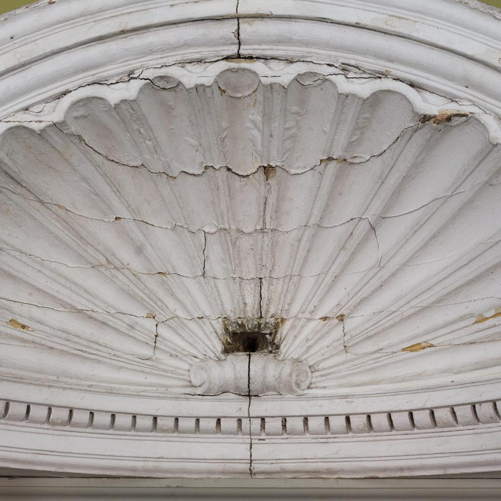 Queen Anne style shell door hood,-120921