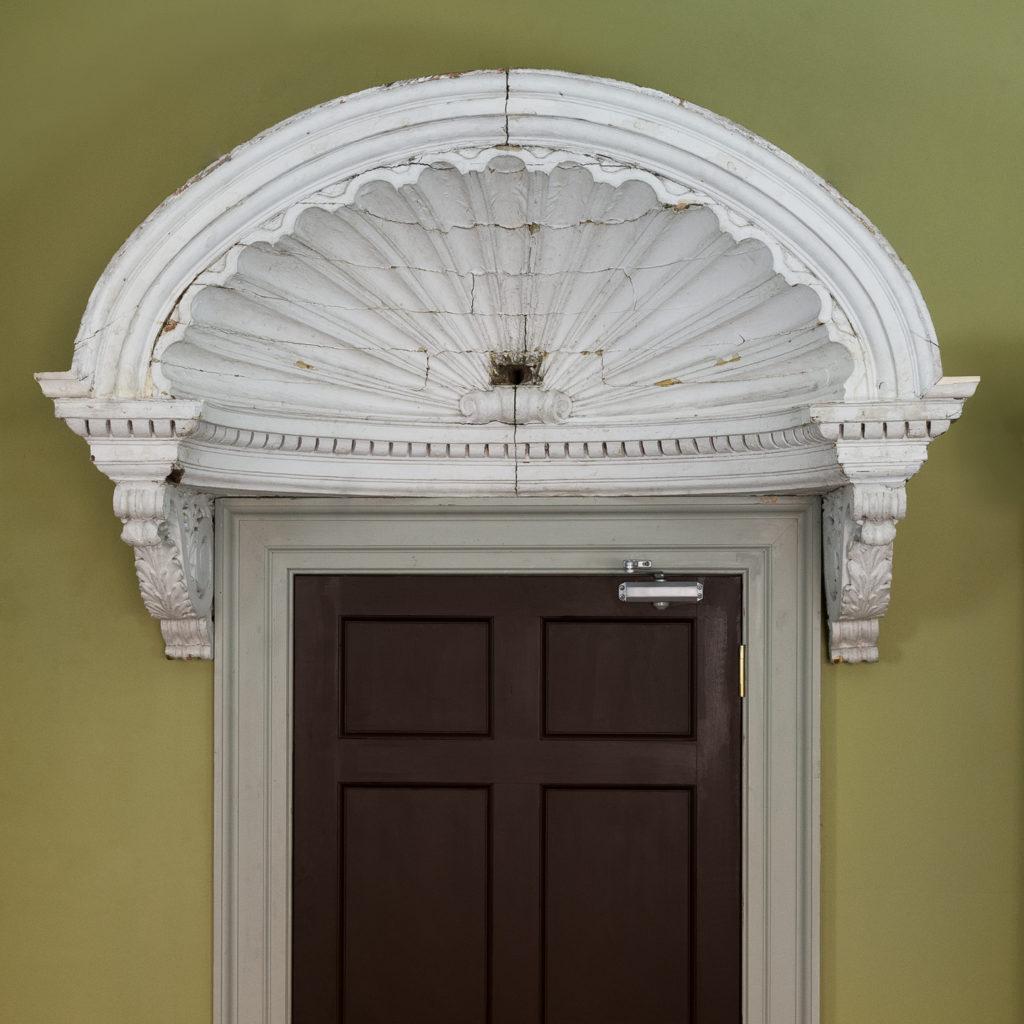 Queen Anne style shell door hood,-120924