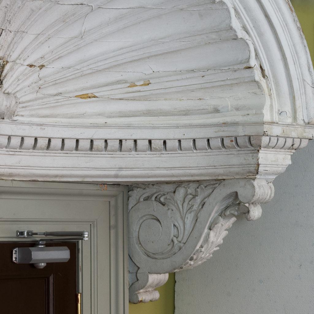 Queen Anne style shell door hood,-120931
