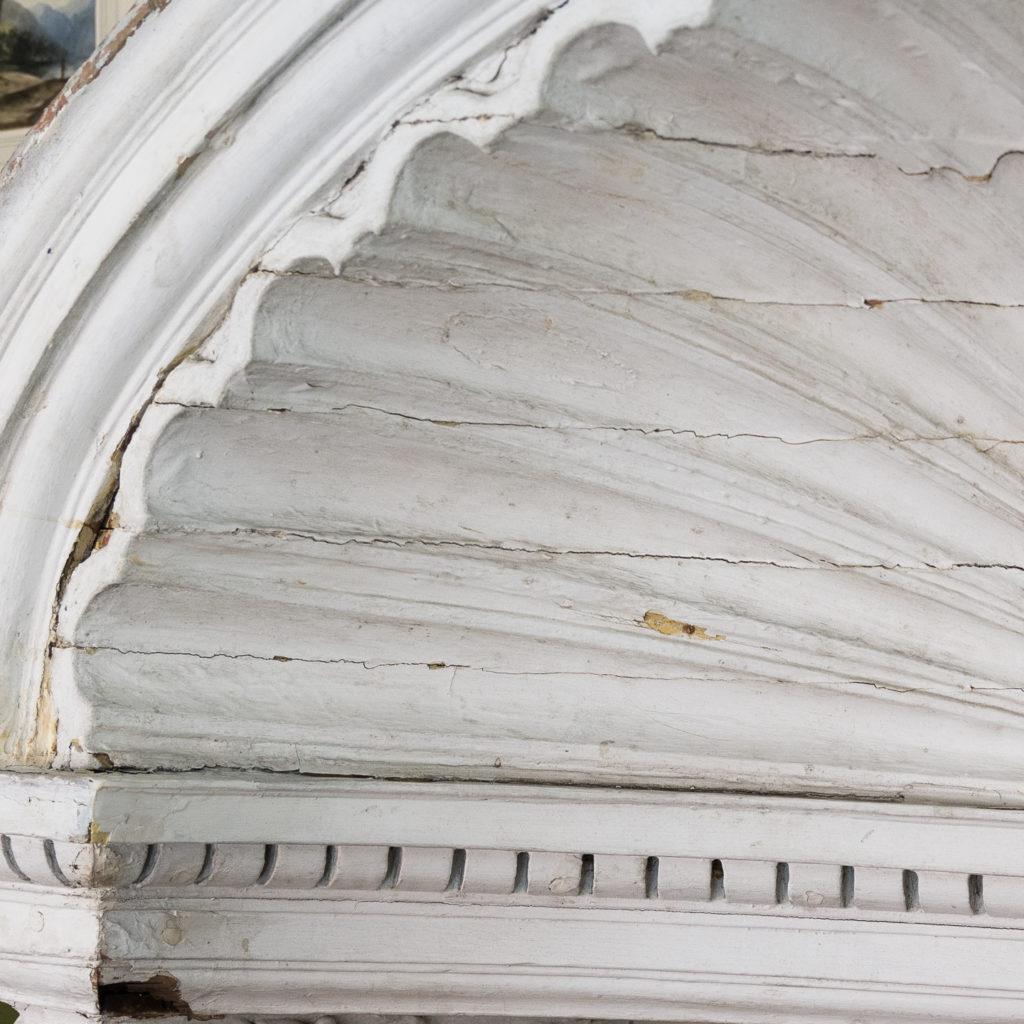 Queen Anne style shell door hood,-120920