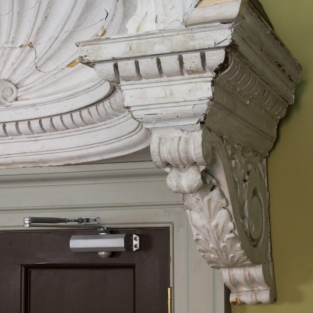Queen Anne style shell door hood,-120926
