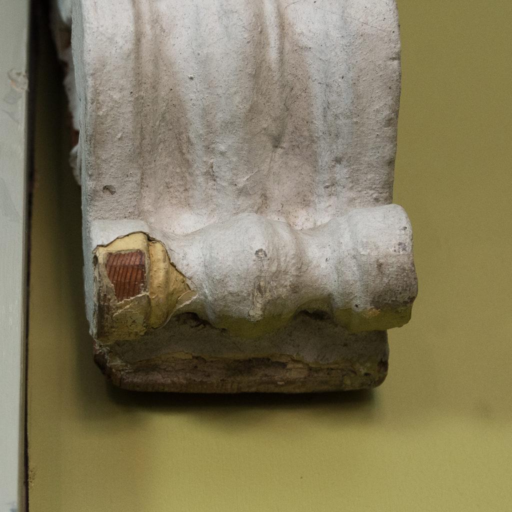 Queen Anne style shell door hood,-120932