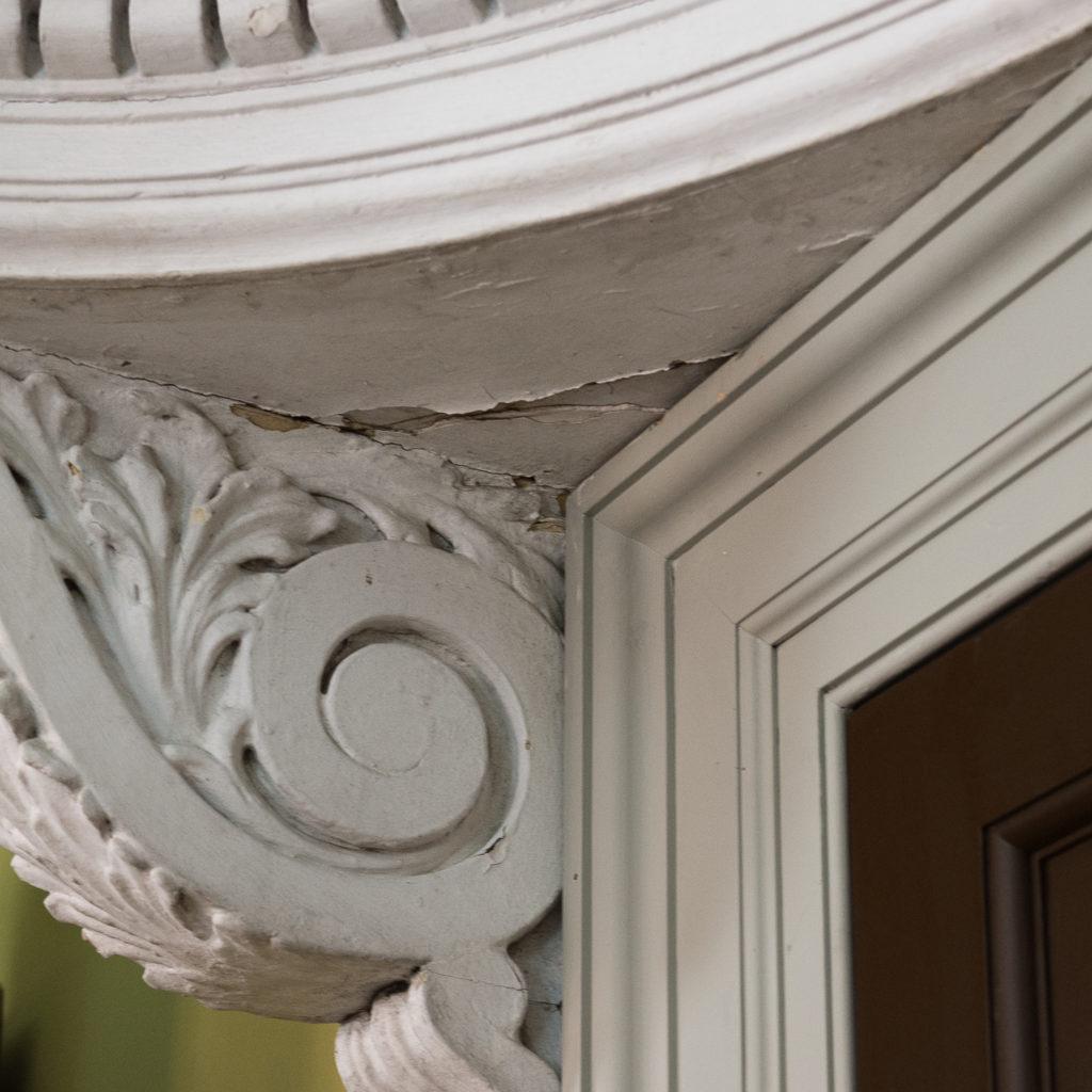 Queen Anne style shell door hood,-120925