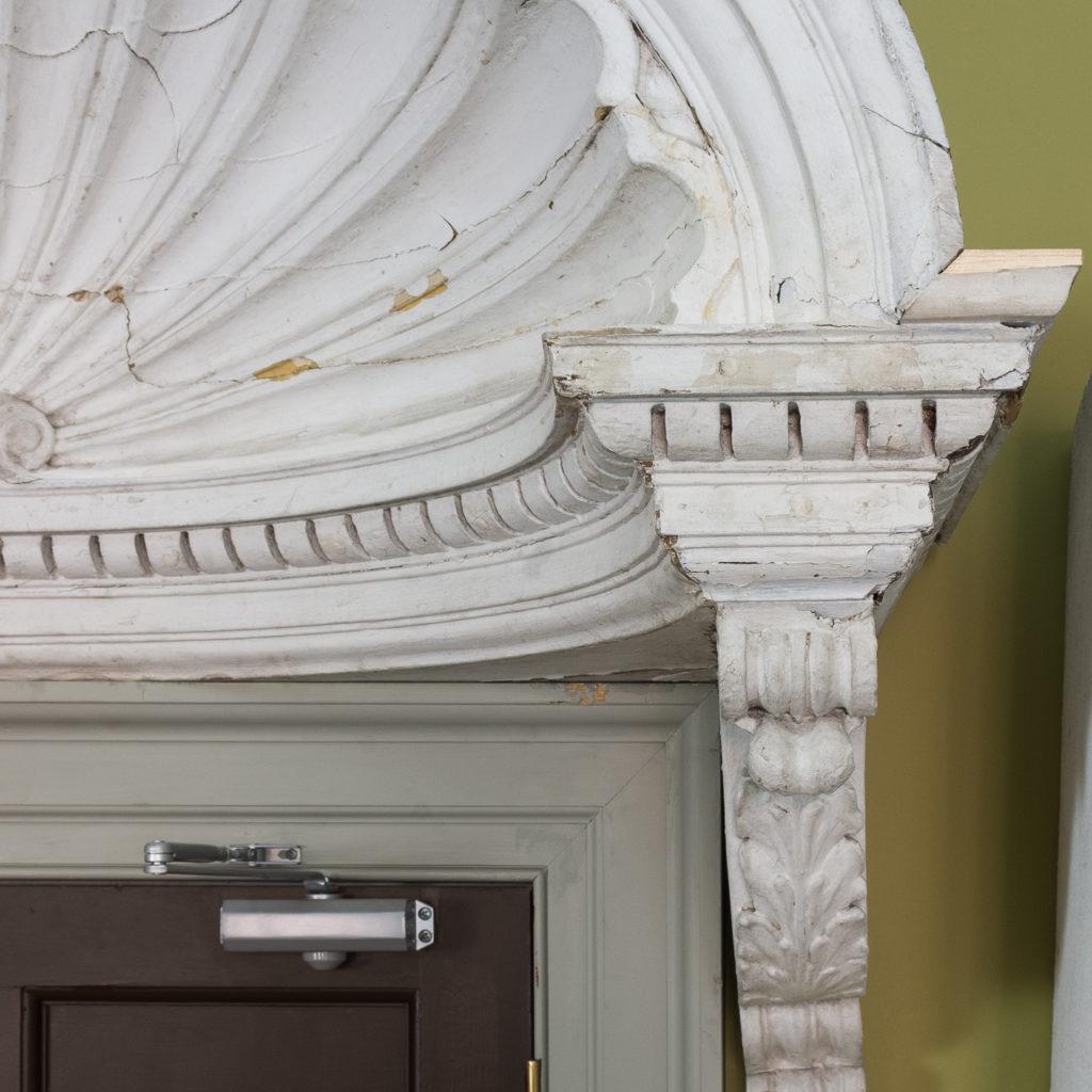 Queen Anne style shell door hood,-120937