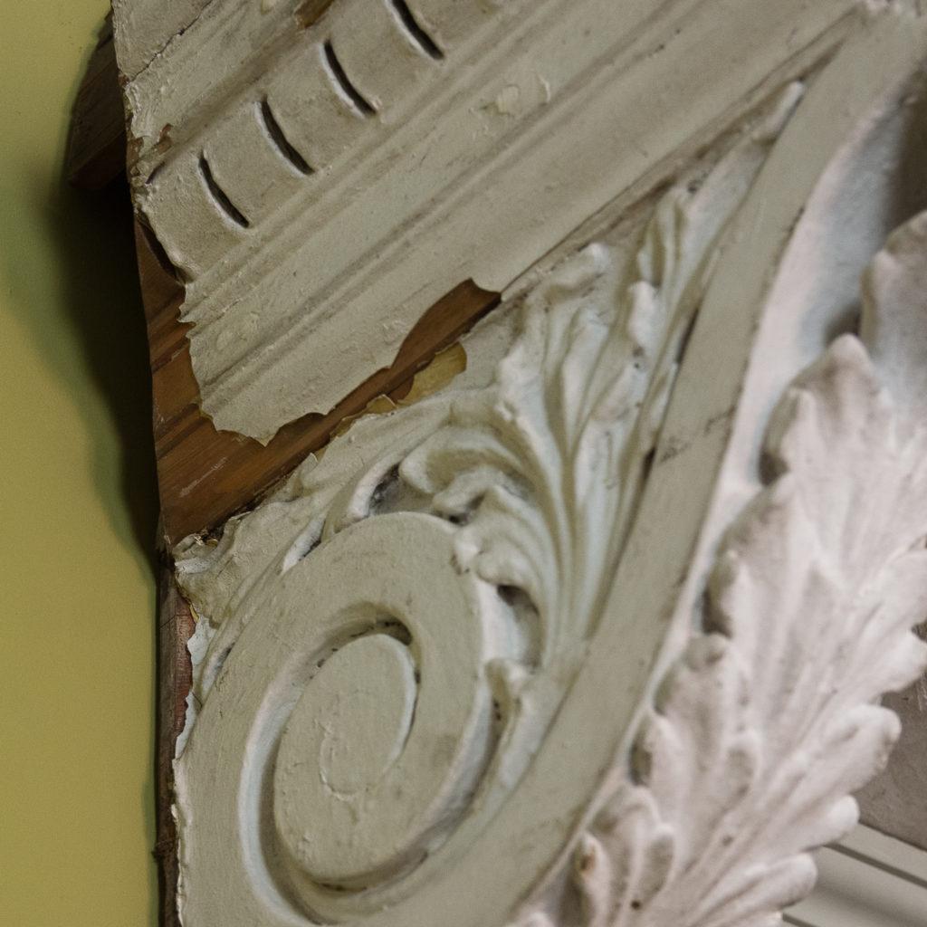 Queen Anne style shell door hood,-120938