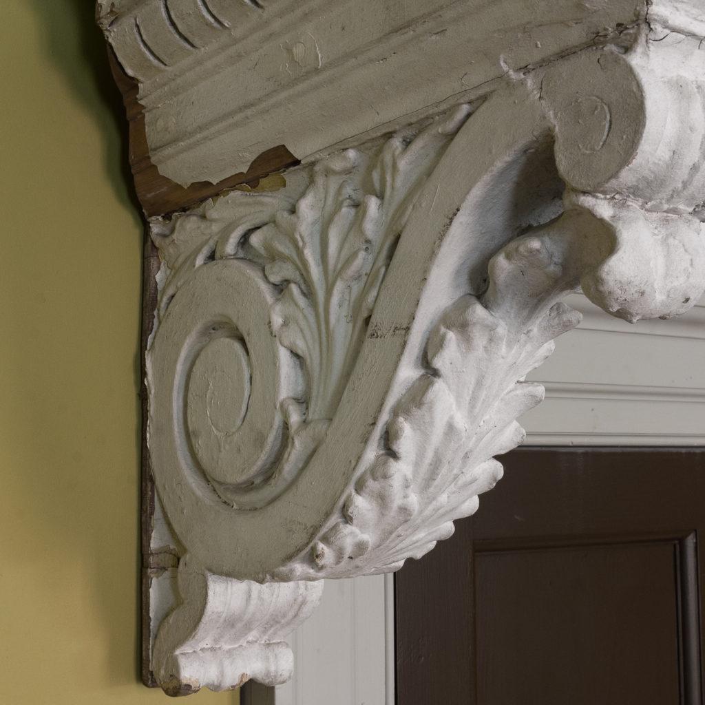 Queen Anne style shell door hood,-120923