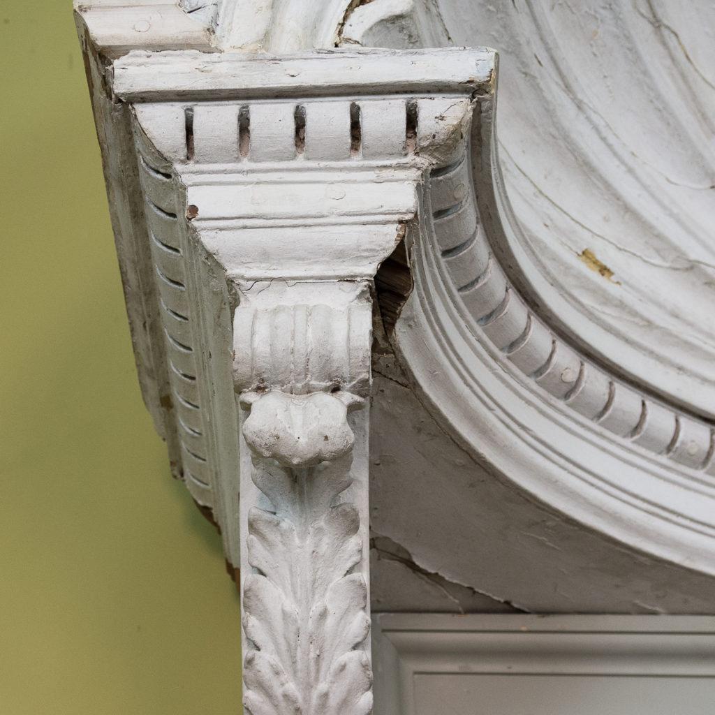 Queen Anne style shell door hood,-120935