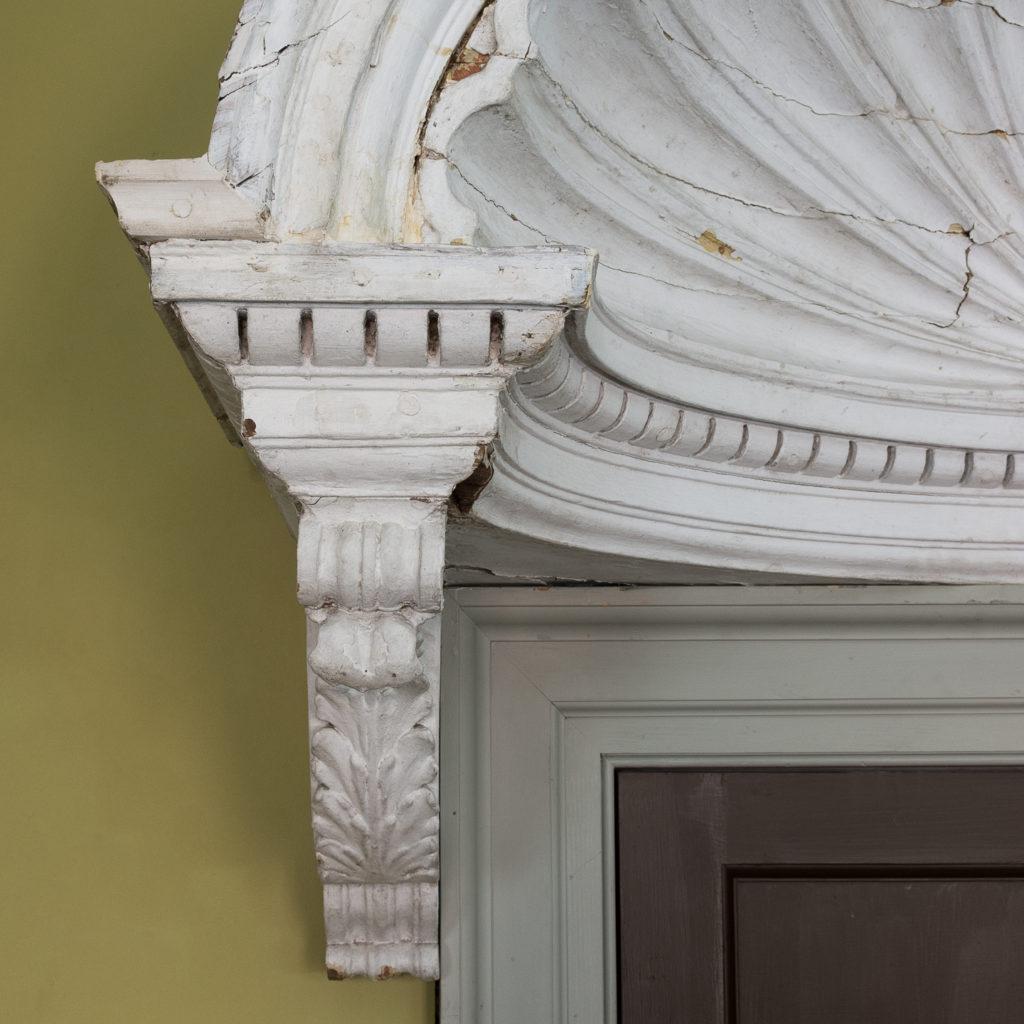 Queen Anne style shell door hood,-120934