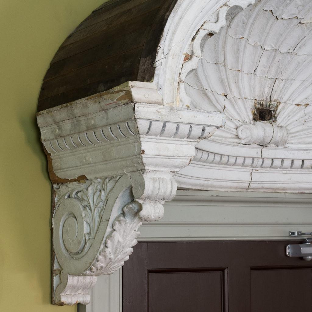 Queen Anne style shell door hood,-120929