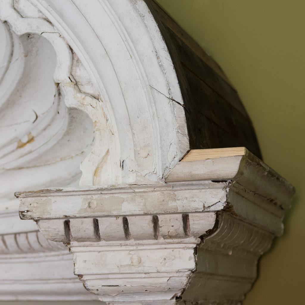 Queen Anne style shell door hood,-120933