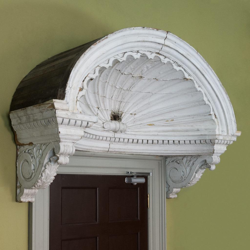 Queen Anne style shell door hood,-0