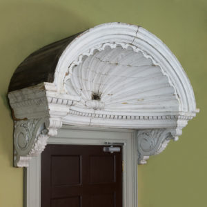 Queen Anne style shell door hood,-0