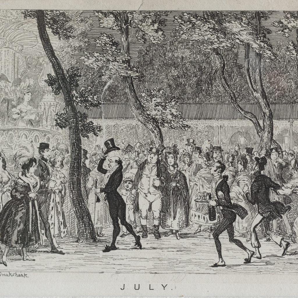 July, published c1835 for George Cruikshank's London Almanack-120550