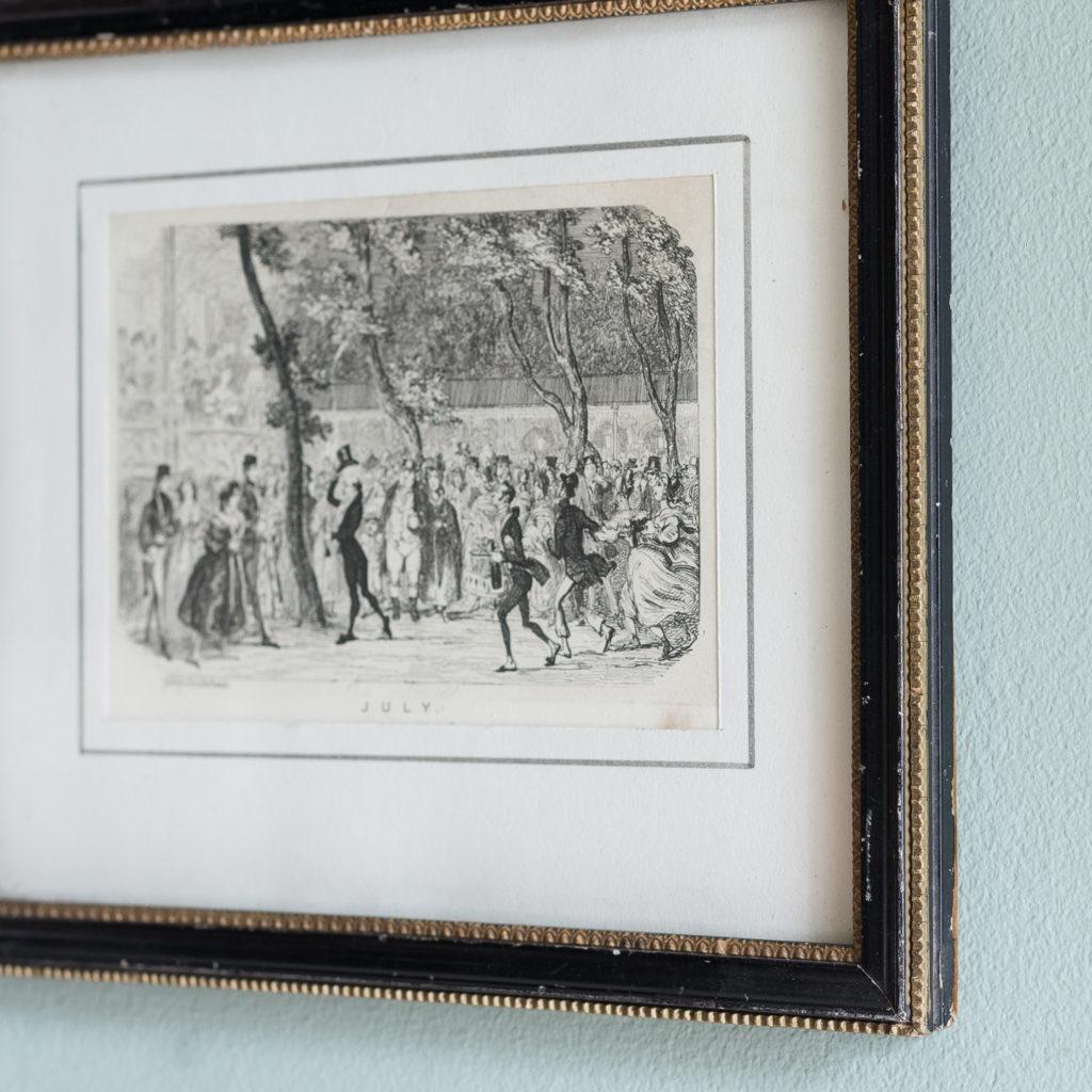 July, published c1835 for George Cruikshank's London Almanack-120549