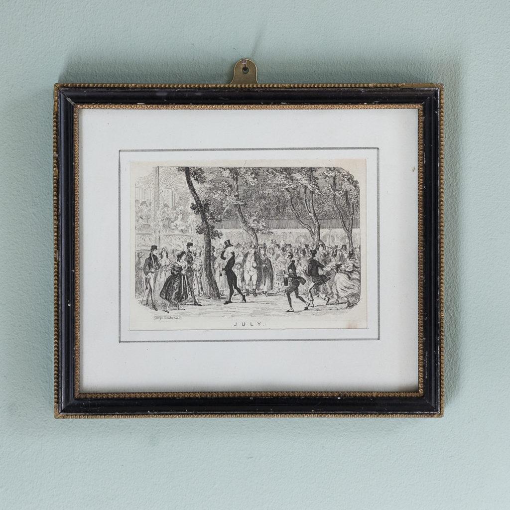 July, published c1835 for George Cruikshank's London Almanack-0