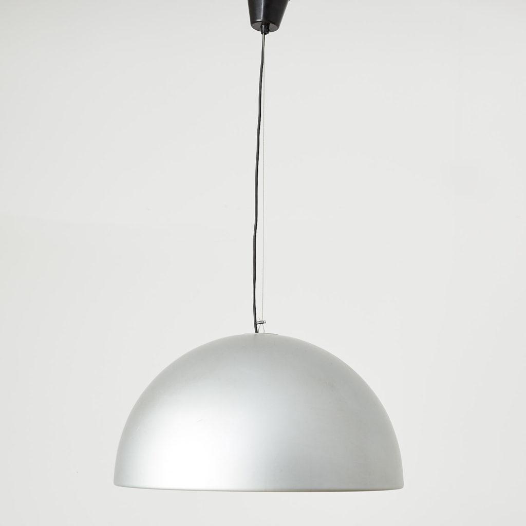Silver dome pendant light, -121633