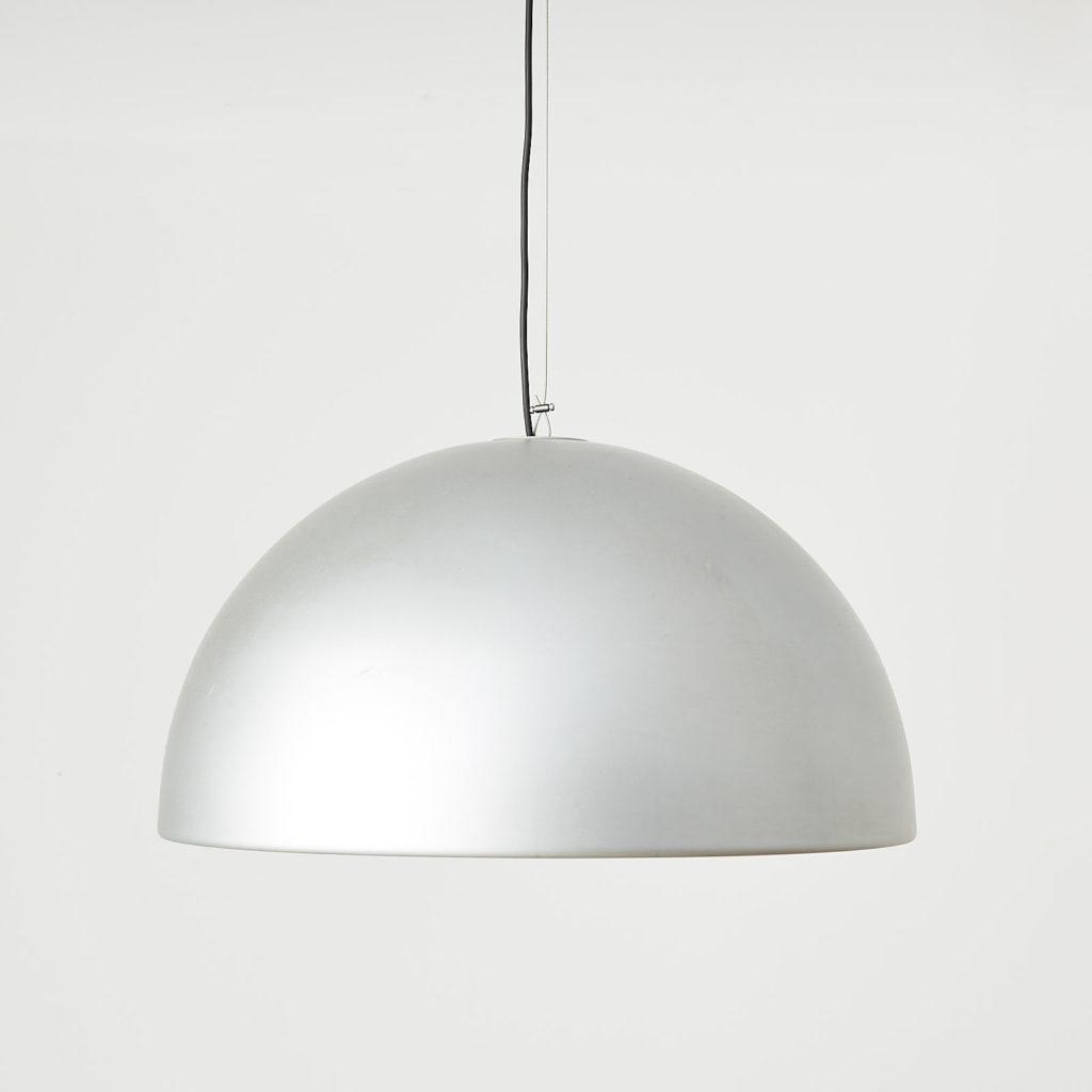 Silver dome pendant light, -0