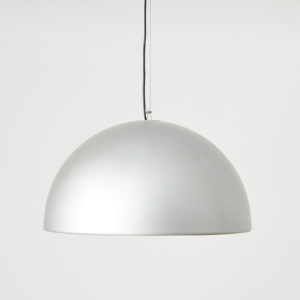 Silver dome pendant light, -0