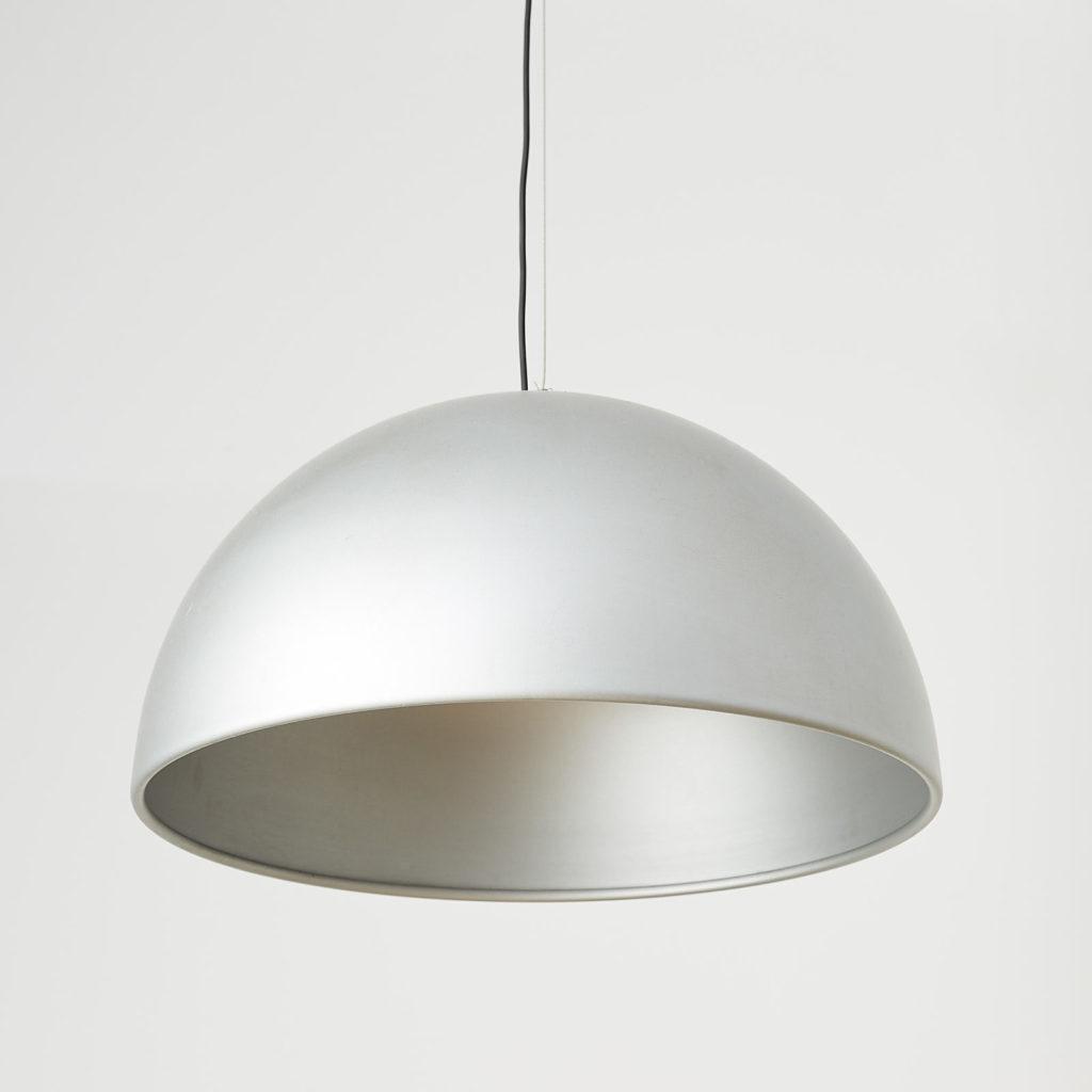 Silver dome pendant light, -121638