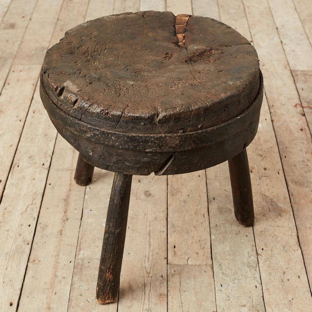 Antique elm chopping block,-121682