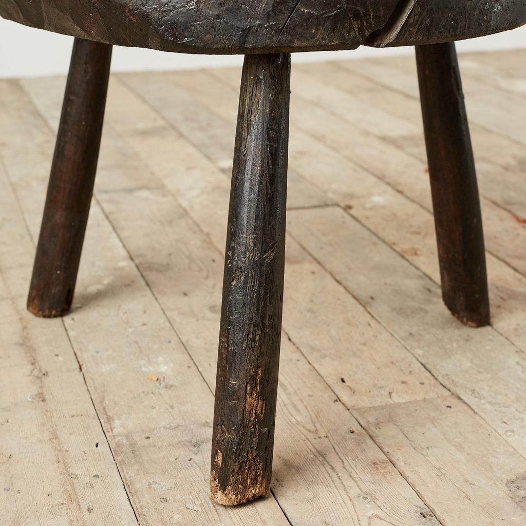 Antique elm chopping block,-121681