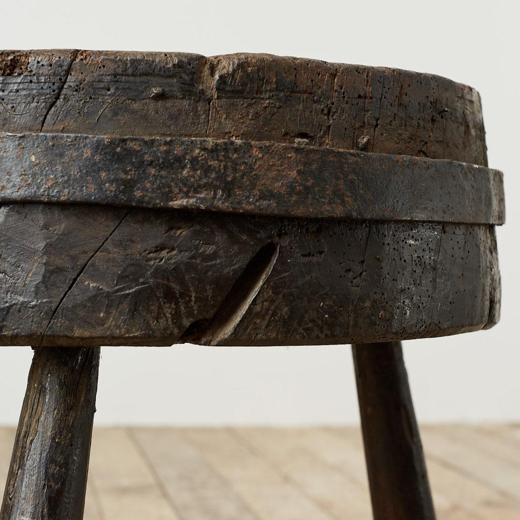 Antique elm chopping block,-121683