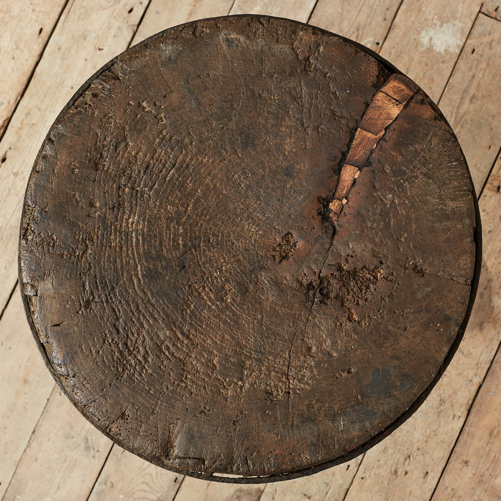 Antique elm chopping block,-121684