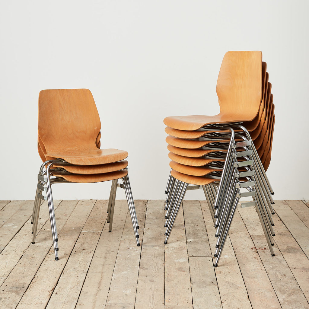 Plywood stacking chair,-121724