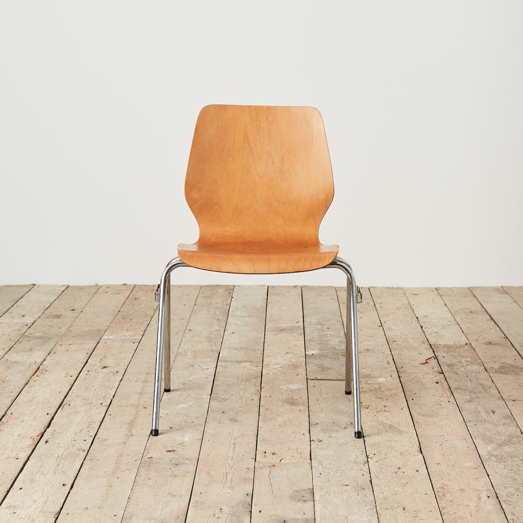Plywood stacking chair,-121726