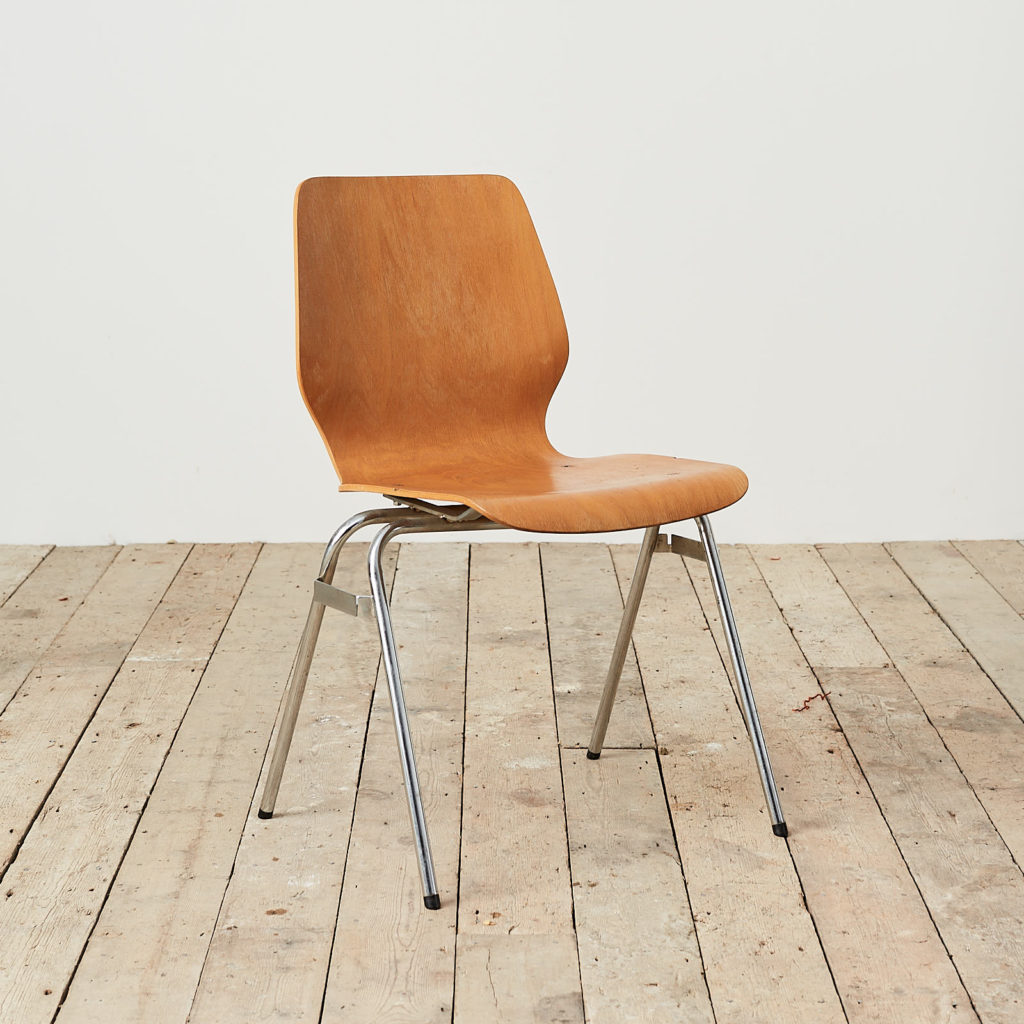 Plywood stacking chair,-121732