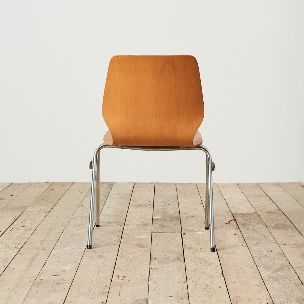 Plywood stacking chair,-121728