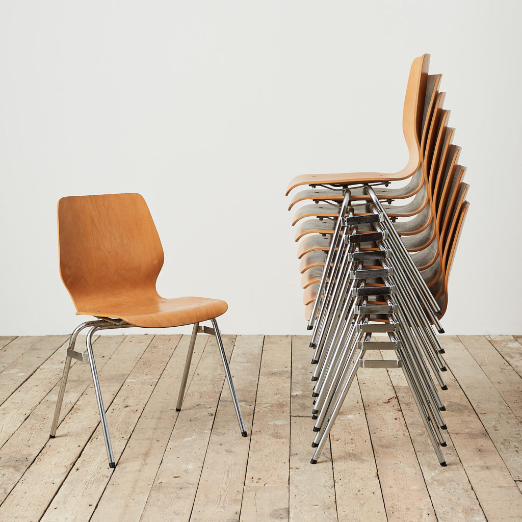 Plywood stacking chair,-0