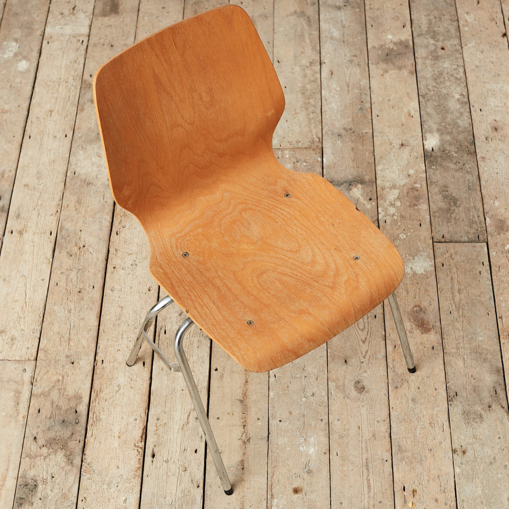 Plywood stacking chair,-121736
