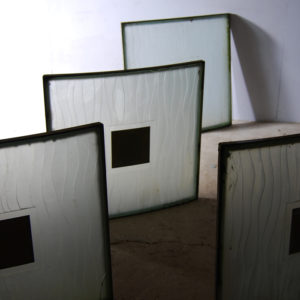 glass square panels