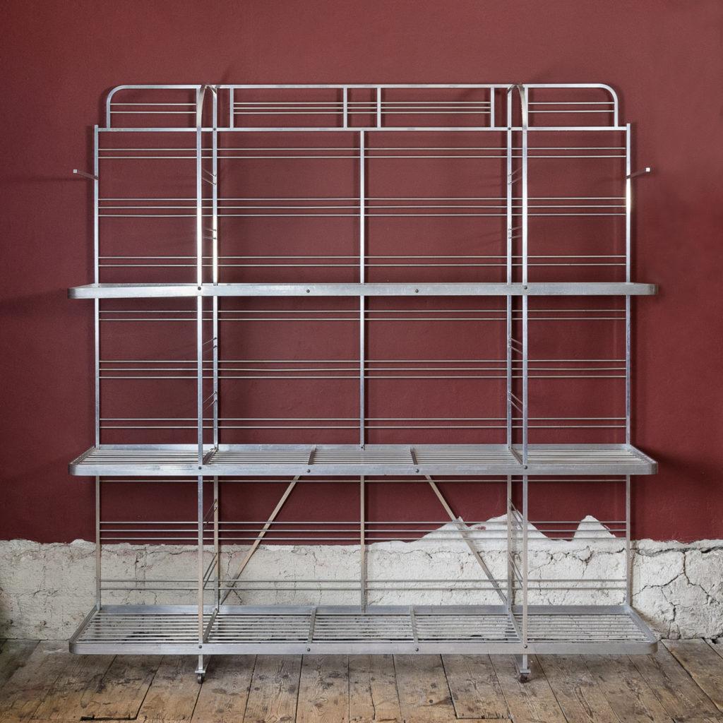 Mid-twentieth century French aluminium baker's rack,-121996