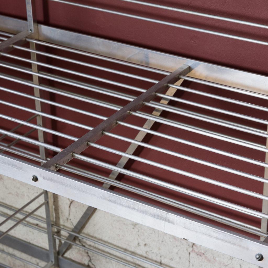 Mid-twentieth century French aluminium baker's rack,-122002