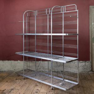 Mid-twentieth century French aluminium baker's rack,-0