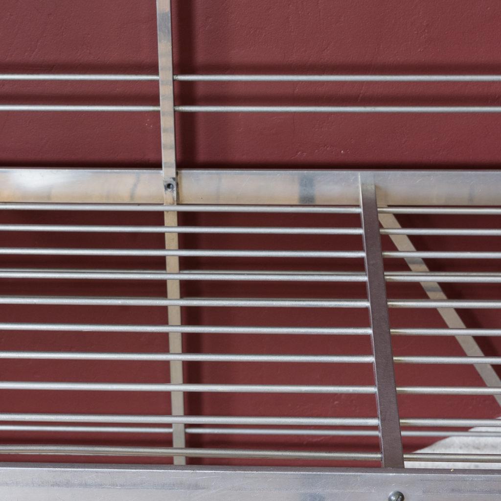 Mid-twentieth century French aluminium baker's rack,-121997