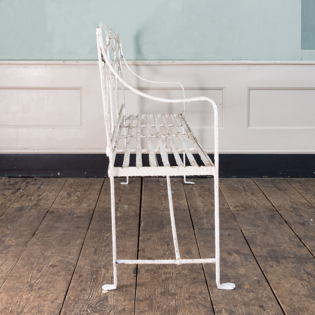 Regency wrought iron bench,-122457