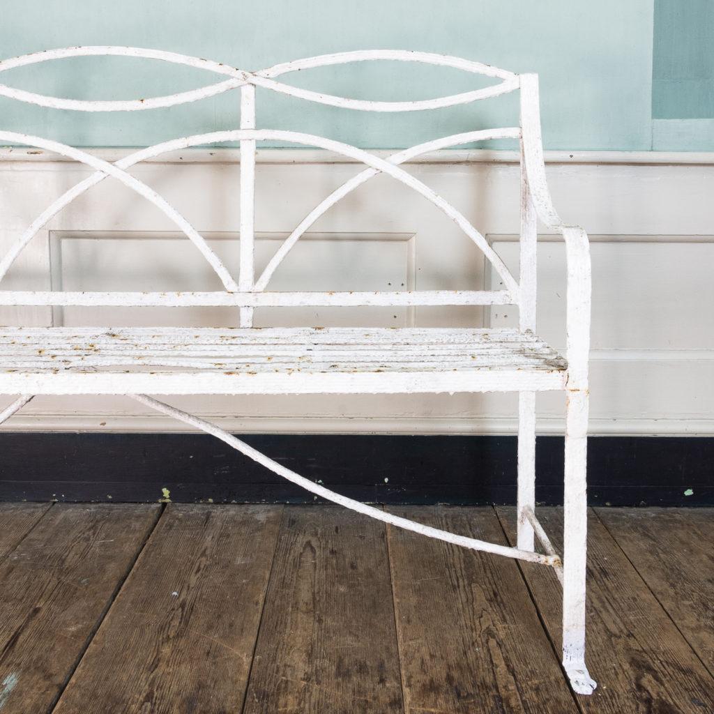 Regency wrought iron bench,-122451