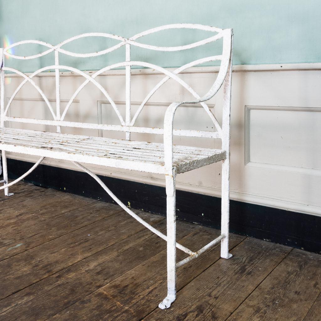 Regency wrought iron bench,-122463