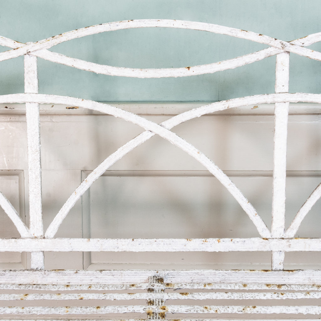 Regency wrought iron bench,-122460