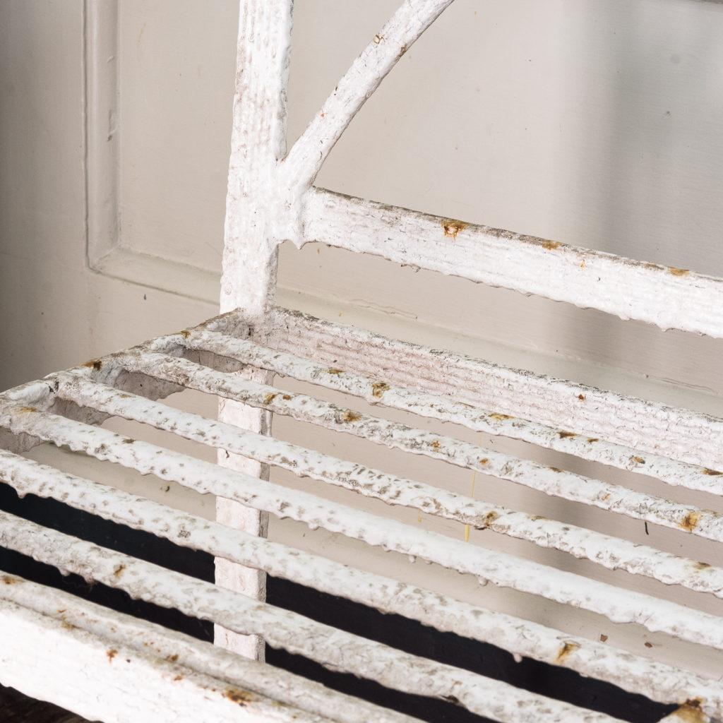 Regency wrought iron bench,-122461