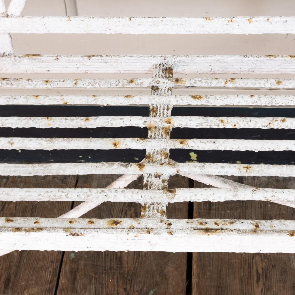 Regency wrought iron bench,-122452